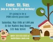Doggie Birthday Party Invitation