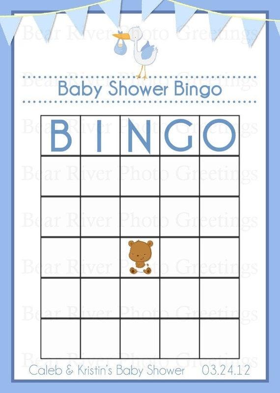 items similar to baby shower game bingo card printable digital file on etsy. Black Bedroom Furniture Sets. Home Design Ideas