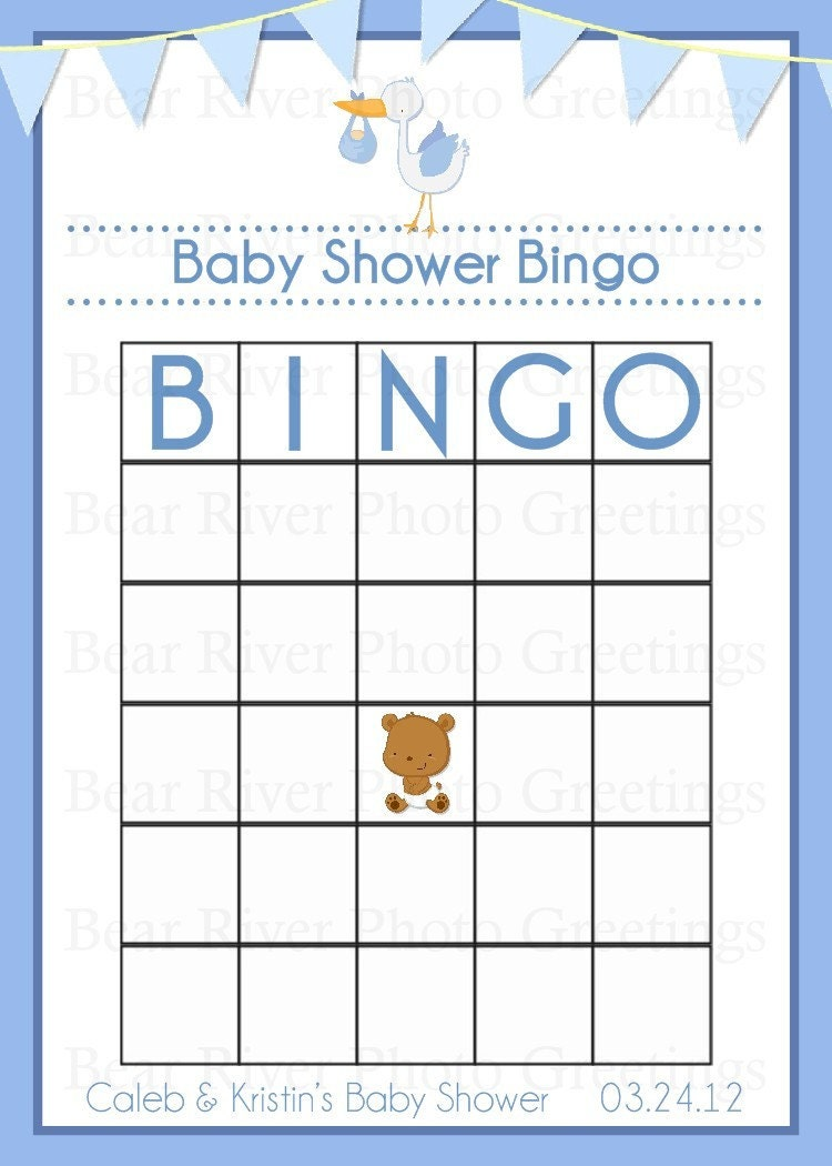 blank baby shower bingo cards