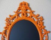 BAROQUE ORNATE VINTAGE Framed Chalkboard-Decorative Wall Mirror-Framed Magnet Board-Memo Board-Orange-Any Color-Kitchen Chalkboard-Weddings