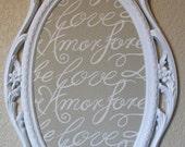 VALENTINES GIFT-'2 in 1' Baroque Ornate Vintage Frame-LoVE-Magnetic Memo Board & Magnetic Chalkboard-Vintage Wall Mirror-Magnetic Board