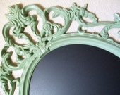 SHABBY CHIC Framed Magnetic Chalkboard Large Ornate Vintage Inspired Frame Wall Mirror Picture Frame Wedding Baby Nursery Photos-pbk-Decor