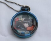 Personalized handmade resin photo pendant with chain OOAK Mothers Day Birthday Bridesmaids Gifts