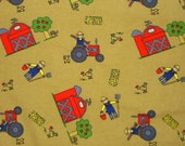 Amy Dott's KIds Collection  Farm  Blue  1 yard