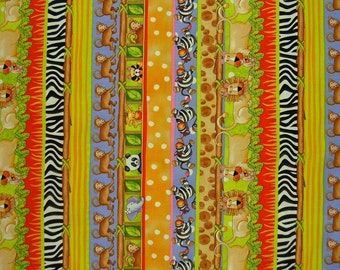 STUDIOe  Jungle Jungle  Jungle Sampler Stripe   1 yard