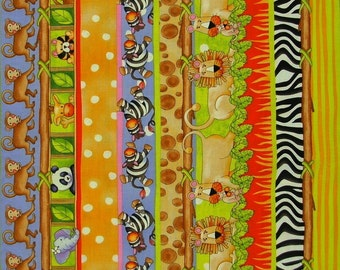 STUDIOe  Jungle Jungle  Jungle Sampler Stripe   1/2 yard
