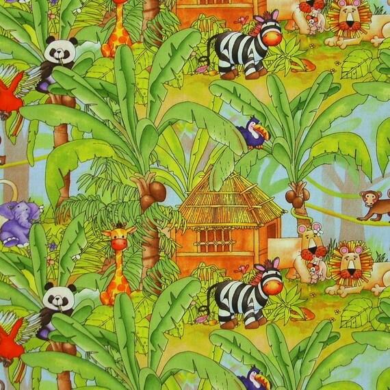 Custom order for Nina for STUDIOe  Jungle Jungle  Jungle Scenic  2 yards