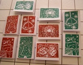 Set of 10 Handmade Christmas Cards