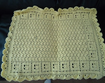 crocheted baby afghan