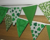 Mini pennant fabric banner - Luck of the Irish-- childrens decor, party decor or photo prop