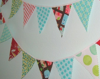Mini pennant fabric banner -Candy Store- childrens decor, party decor or photo prop