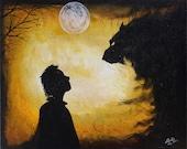 Wolf Spirit 16 X 20 Original Acrylic Painting