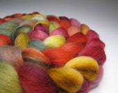 Cowgirl Get Up, Hand Dyed, 4 ounces, Merino and Mohair Combed Top, Roving