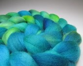 Mermaid's Dream,  A Playing in the Kettle, Hand Dyed, 4 ounces, Falkland Wool Combed Top, Roving