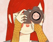 Behind The Lens  - Illustration Print