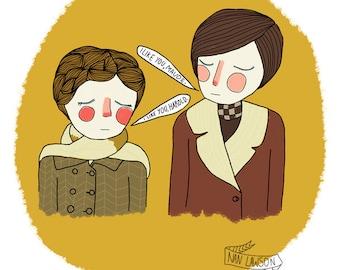 I Like You, Maude - Illustration Print