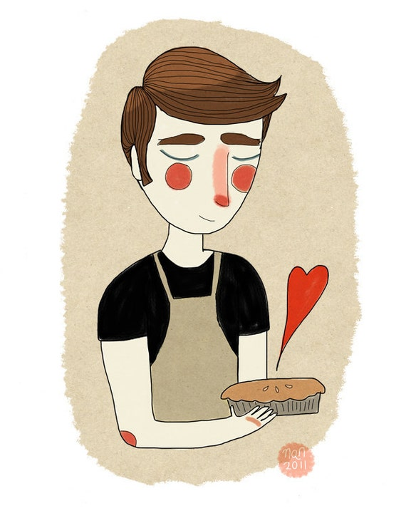 The Piemaker  - Illustration Print