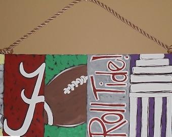 Alabama Bama Six Pack Painting Roll Tide