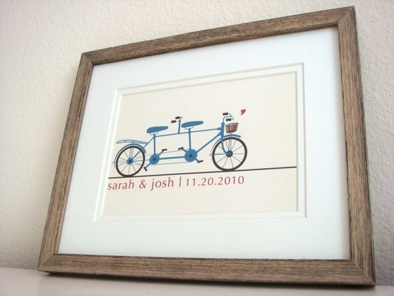 Bicycle Built For Two Wedding Print