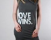 LOVE WINS Dress Asphalt