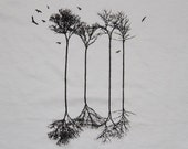 Reflecting Trees and Birds Rescue Tee Mens/Womens American Apparel Silver