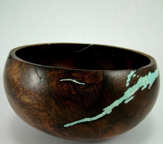 Glazed Wisdom III - California Black Oak Burl Bowl