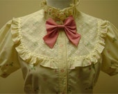 Strawberries and lace blouse - medium