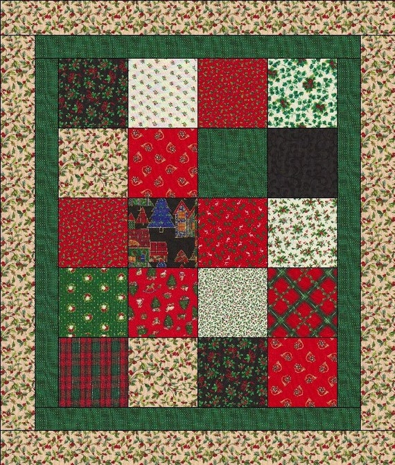 Simple Quilts Templates Quilt Kit : Quilt Kit Easy For Beginners 20 Blocks Makes a 34x40 Quilt