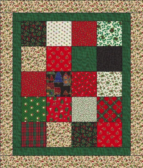 Quilt Kit Easy For Beginners 20 Blocks Makes A 34 X 40 Quilt