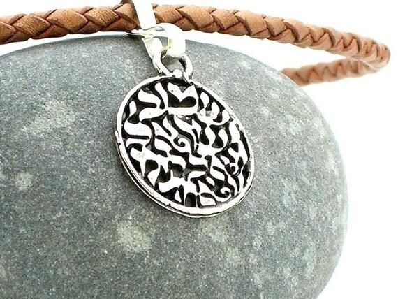 Men's SHEMA Pendant Leather Necklace