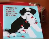 Carte de vœux de chien d'eau portugais