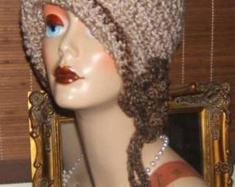 1920s Style Crochet Cloche Flapper Hat Pattern