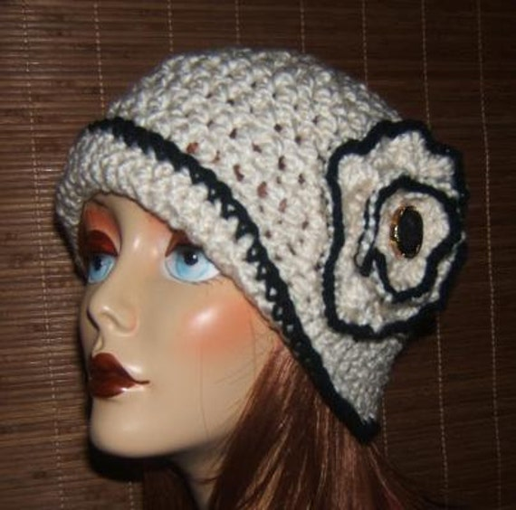 items similar to darling crochet cloche hat quotalisynquot on etsy