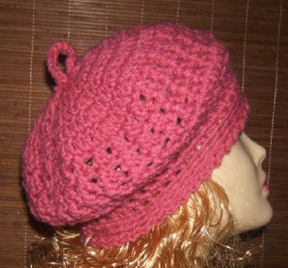 Free Crochet Pattern French Beret : Adorable Crochet Cross-Over Stitch French by ...