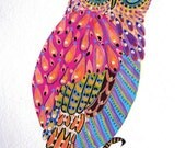 La Chouette Owl painting print of an original painting