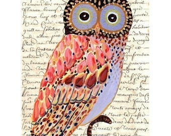 Whimsical Owl painting archival print