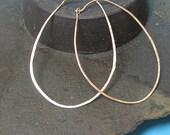 Huge Gold Oval Hoop