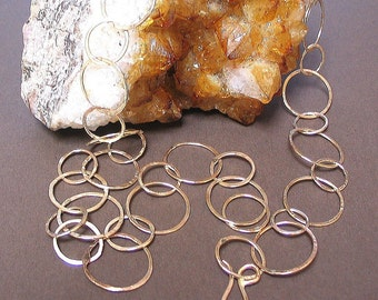 14K Gold Filled, Handforged Chain