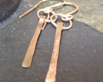 14K Gold Filled, Thin Drop Earrings