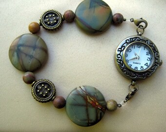 Beautiful Stone interchangeable Bracelet Watch Band with Watch Face
