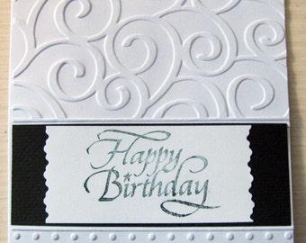 Beautiful Hand Embossed Card