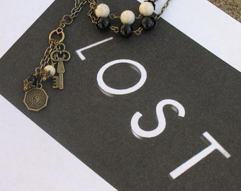 LOST TV Show Inspired Dharma Antiqued Necklace