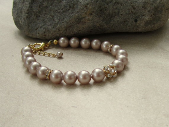 Champagne Pearl Braclet Crystal Fireball, Tracie