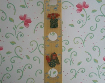Vintage Sevi Italy Clown Growth Chart Centimeters