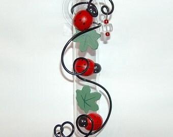 Ladybug 6 inch Suction Window Vase