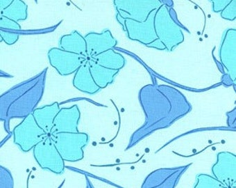 Valori Wells Olive Rose Little Roses Color Blue All fabric is mailed Via Priority Mail.