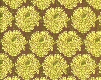 Rare 1 Yard Tina Givens ZaZu Petals Color Lime