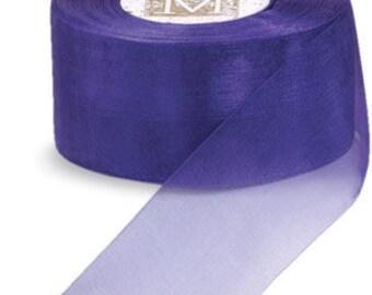 """Midori Organdy Ribbon 3/4"""" Color Amethyst"""