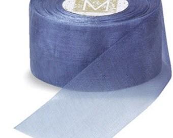 Midori Organdy Ribbon 3/4 inch Color Periwinkle