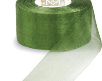 """Midori Organdy Ribbon 3/4"""" Color Sage"""